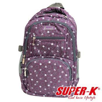 【SUPER-K】潮流漢字後背包SHB21507-紫