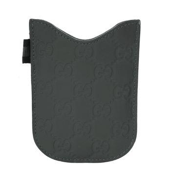 GUCCI  Guccissima灰色壓紋手機套