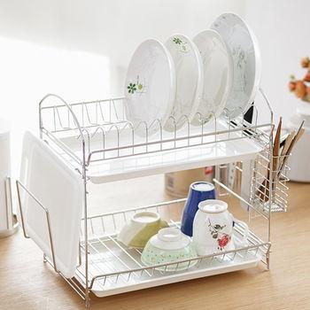 《舒適屋》不鏽鋼組合式多功能碗盤架