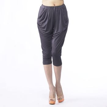 BELLA VITA 100%蠶絲180G超重磅數哈倫七分褲
