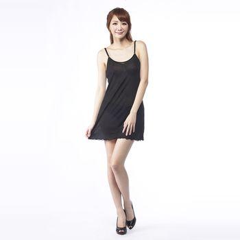 BELLA VITA 100%蠶絲肩帶可調式襯裙