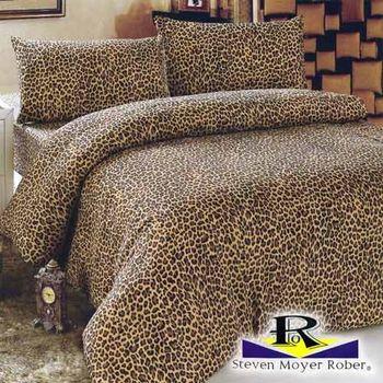 【MOYER ROBER】時尚豹紋-單人3件式被套床包組