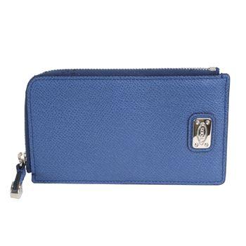 TOD S-簡約拉鍊手機萬用包(藍)