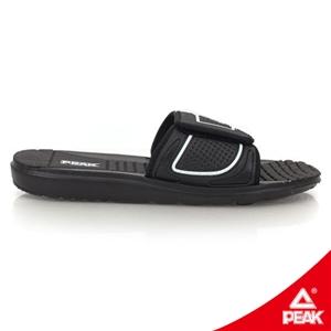 【PEAK 匹克】 男休閒運動拖鞋-正黑/正白