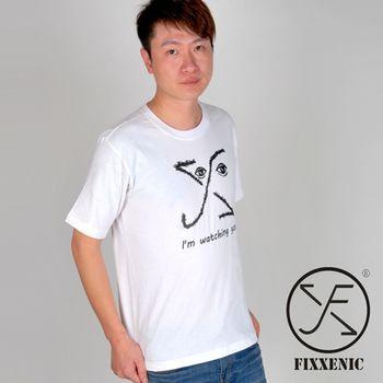 【FIXXENIC】台灣製造個性EYE短T(白色)