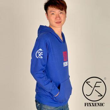 【FIXXENIC】東方龍經典紀念長袖帽T(藍色)