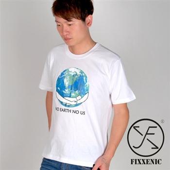 【FIXXENIC】台灣製造愛護地球短T(白色)