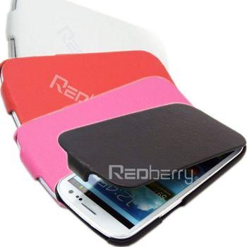 Samsung Galaxy S3 時尚薄型 荔枝紋 下掀式皮套