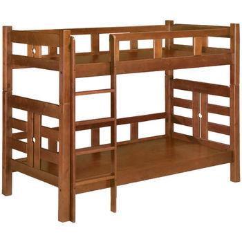 MiCasa-萊茵淺胡桃色單人3尺雙層床