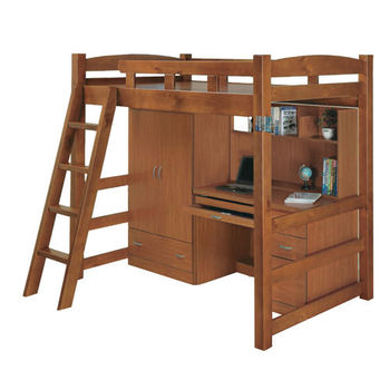 MiCasa-淺胡桃色 單人3.5尺功能床