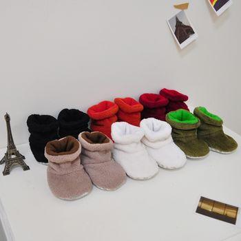 【納尼亞】珊瑚絨保暖可愛童鞋/室外鞋/童靴-2入組(6色)