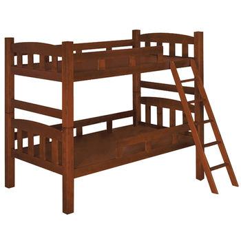 MiCasa簡約淺胡桃色單人3.5尺雙層床