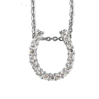 Passion 馬蹄型晶鑽純銀墜