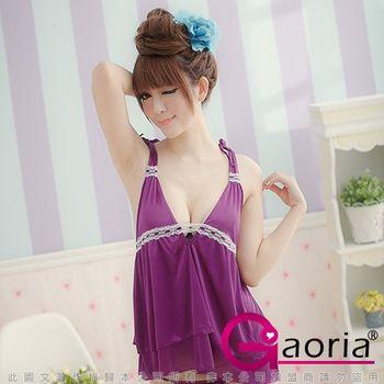 Gaoria 浪漫情書-緞面絲綢情趣睡衣