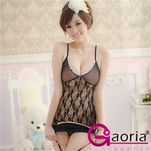Gaoria 甜蜜迷戀-美背三件式睡襯衣