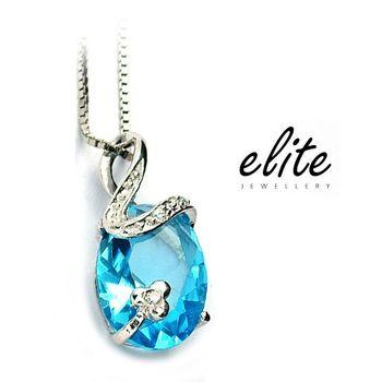 《伊麗珠寶》925純銀項鍊 - 瓏之華(和諧藍水晶)