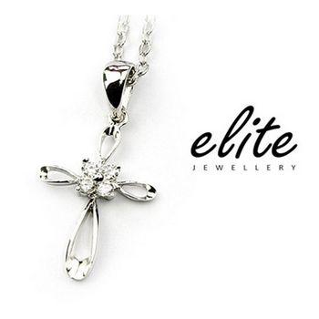 《伊麗珠寶》925純銀項鍊 必備十字款 - 優雅十字