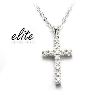 《伊麗珠寶》925純銀項鍊 必備十字款 - 經典鑽十字款(小)