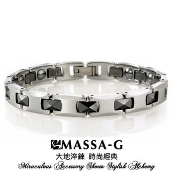 MASSA-G Deco系列《炫黑晶簡-細版》頂級鎢鋼陶瓷手環
