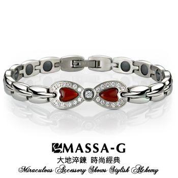 MASSA-G Deco系列【浪漫瑰麗】白鋼能量手環