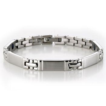 MASSA-G 銀色流光細版健康手環