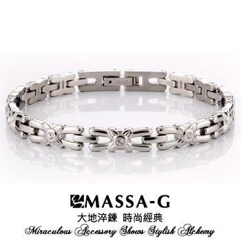 MASSA-G Deco系列【Refine 優雅】白鋼能量手環