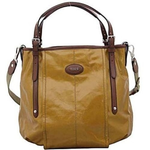 TODS 2012漆亮帆布肩背G-Bag