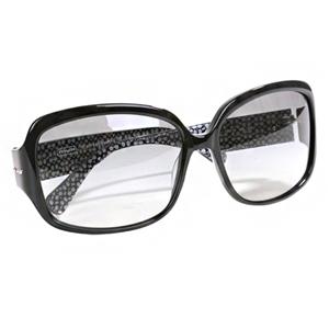 COACH-側邊愛心釘釦太陽眼鏡(黑)