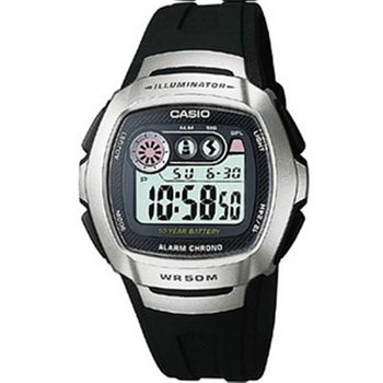 CASIO兩地時間商務錶(銀黑)