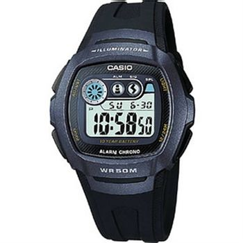 CASIO兩地時間商務錶(藍黑)