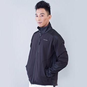 TECL-WOOD《96284》防風防水透氣保暖軟殼外套(黑色)