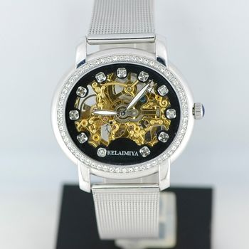 KELAIMIYA米蘭鏤雕機械腕錶