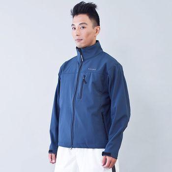 TECL-WOOD《96616》防風防水透氣保暖男夾克(藍灰色)