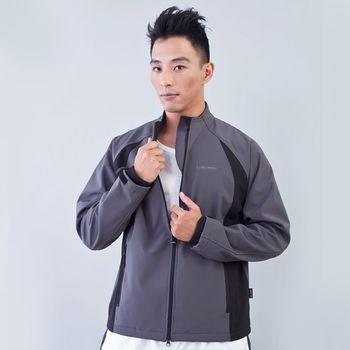 TECL-WOOD《96620》防風防水透氣保暖軟殼外套(灰/黑)