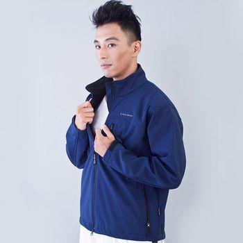 TECL-WOOD《96617》防風防水透氣保暖男外套(深藍色)