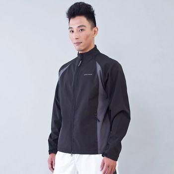TECL-WOOD《96622》防風防水保暖軟殼夾克(黑/灰)