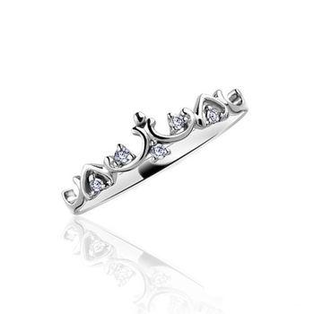 美帝亞童話王國天然鑽石戒指(鑽石0.08CT)