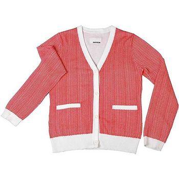『摩達客』美國LA設計品牌【Suvnir】紅白針織衫外套