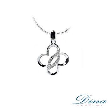 DINA JEWELRY 蒂娜珠寶_蝶戀花天然鑽石造型項鍊