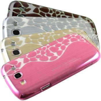 Samsung Galaxy S3 電鍍拉絲花紋 保護殼/背蓋