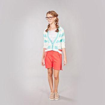 『摩達客』美國LA設計品牌【Suvnir】藍白橫紋針織衫外套