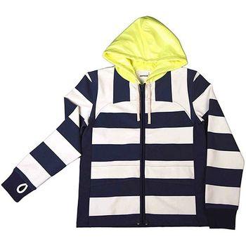 『摩達客』美國LA設計品牌【Suvnir】藍白橫紋連帽外套