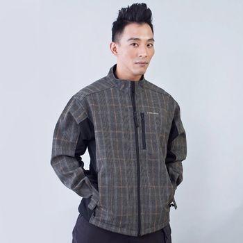 TECL-WOOD《96238》經典格紋防風防水透氣保暖軟殼夾克