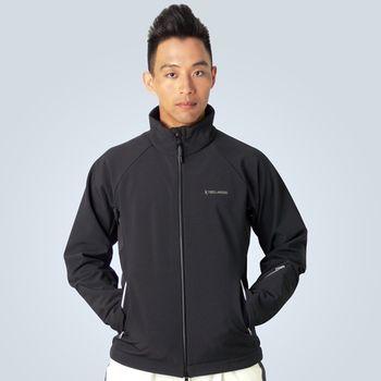 TECL-WOOD《96576》防風防水保暖貼身軟殼男夾克-黑色
