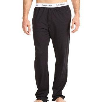 CK 男時尚舒適棉針織黑色長睡褲
