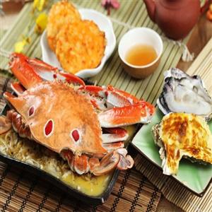 騰龍頂級奶油螃蟹+焗烤生蠔+白玉貝焗海鮮組