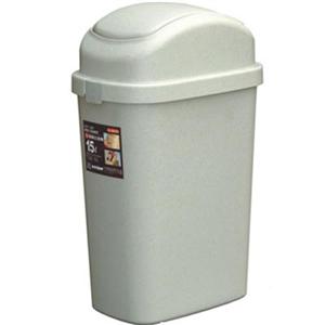 【收納達人】搖蓋式垃圾桶15L(2入)