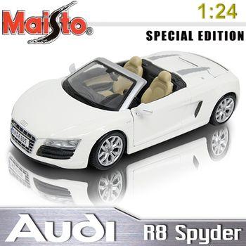 【Audi】R8 Spyder 1:24 合金模型車 (白)