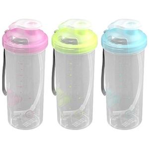 【收納達人】果凍環保隨行杯(附提帶&吸管)3入組