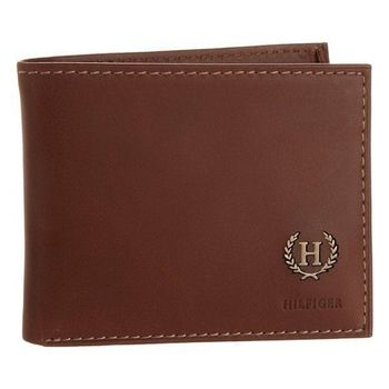 Tommy Hilfiger 2013男時尚霍夫棕色皮夾